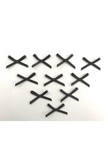 10x kleine Satin Schleifen Schwarz