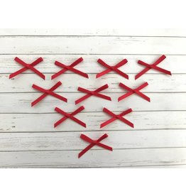 10x kleine Satin Schleifen Rot