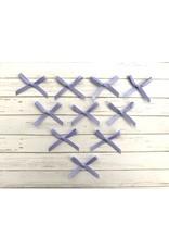 10x kleine Satin Schleifen Lavendelblau