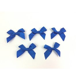 5x große Satin Schleifen Blau