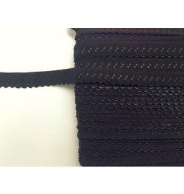 2m elastisches Einfassband  Dunkelbraun 11mm