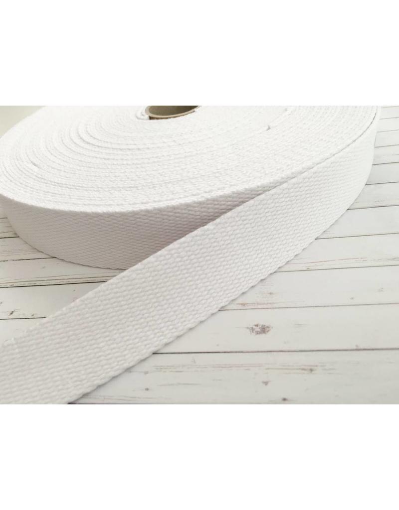 1m Gurtband Baumwolle 30mm Weiß