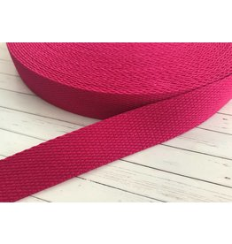 1m Gurtband Baumwolle 25mm Pink
