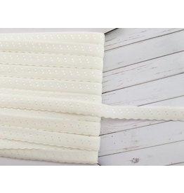 2m elastisches Einfassband  Creme 11mm