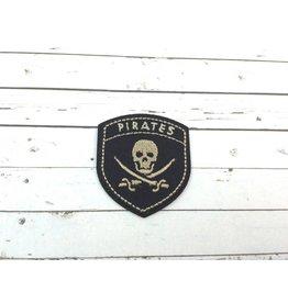 Applikation  Piraten Wappen  Gold