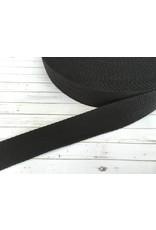 1m Gurtband Baumwolle 30mm Schwarz