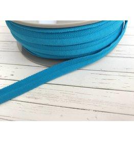 1m elastisches Paspelband matt Türkisblau 10mm