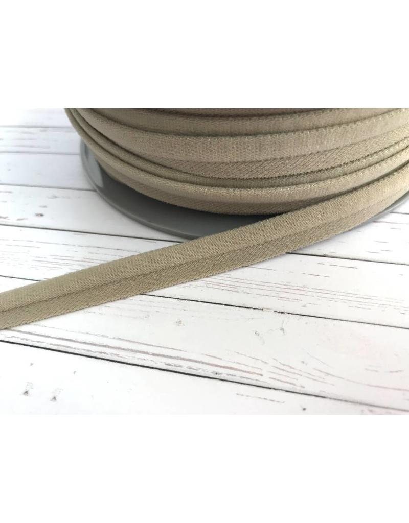 1m elastisches Paspelband matt Beige 10mm