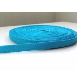 3m feines, schmales Köperband 10mm Türkisblau