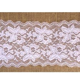 1m elastische Wäschespitze  15cm Weiß