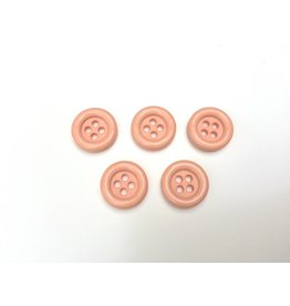 5x  4-Loch  Knöpfe  Orange  15mm