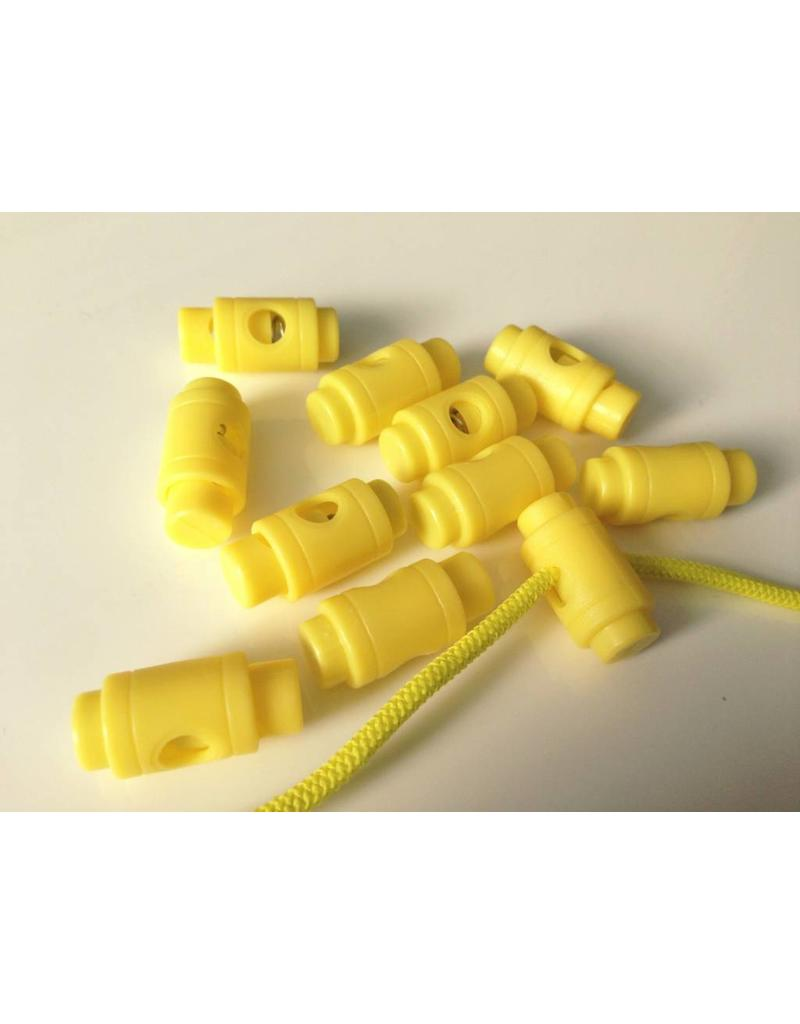 10 Stück Kordelstopper Gelb
