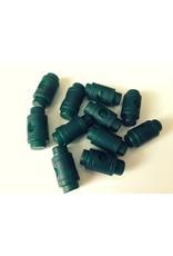 10 Stück Kordelstopper Dunkelgrün