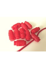 10 Stück Kordelstopper Rot