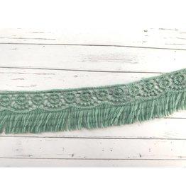 1m Guipure Spitze mit Fransen Grün