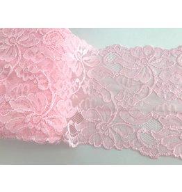 1m weiche, elastische Spitze Rosa 15cm