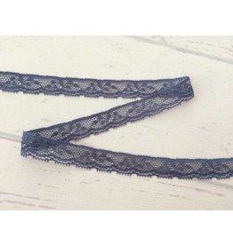 2m weiche Spitzenborte  14mm Blau