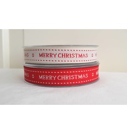 1m Merry Christmas Webband  17mm