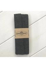 3m Viskose Jersey Schrägband Dunkelgrau meliert