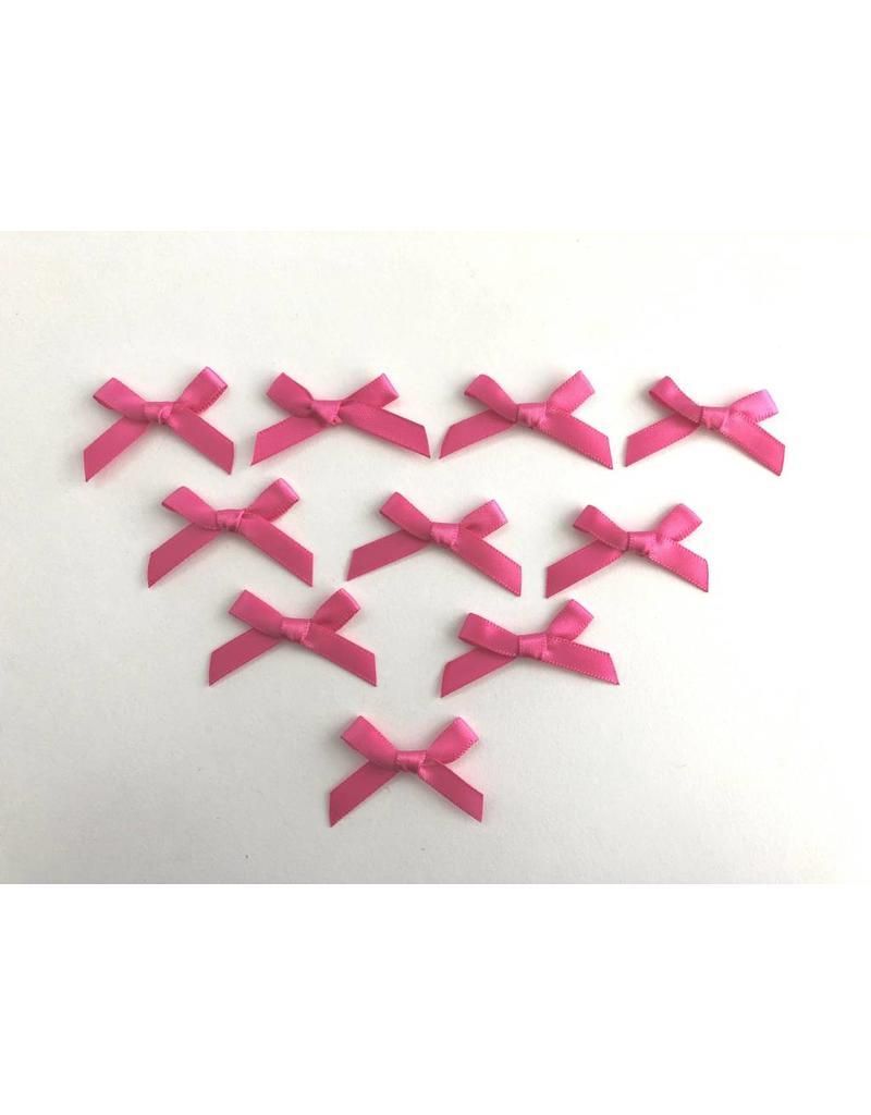 10x Satin Schleifen Pink