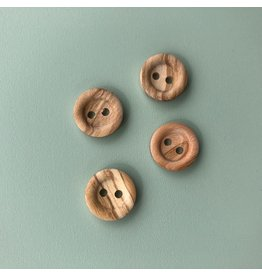 4x Holzknopf 15mm