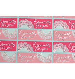 24x Sticker Especially for you Spitze Rosa Pink