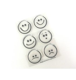 Clear Stamp Set   Smileys  6 tlg.