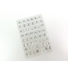 Clear Stamp Set   Alphabet  55 tlg.