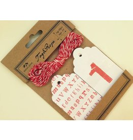 20x Hangtags 0-9+Alphabet + Rope Set