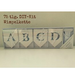 75 tlg. DIY-Kit Wimpelkette