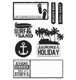 Kaisercraft Clear Stamps Sets   Sandy Toes  7tlg.
