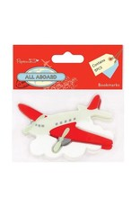Papermania 5x All Aboard Airplane Bookmarks