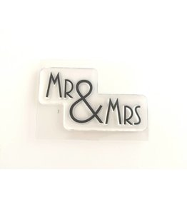 Clear Stamp   Mr & Mrs
