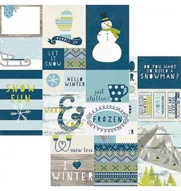 Simple Stories Snow Fun Elements 2 Cardstock Bogen 12x12""