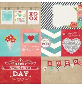 Simple Stories Hugs & Kisses, Elements #1 Cardstock 12x12