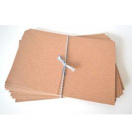 10x Kraftpapier Klappkarten B6 12,7x17,8cm