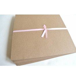 10x Kraftpapier Klappkarten DIN Lang 10,5 x 21cm