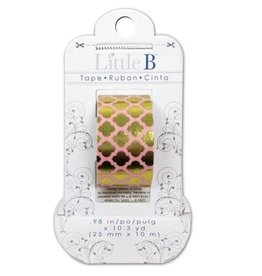 Little B Little B Washi Tape Gold Moroccan Window  25mm