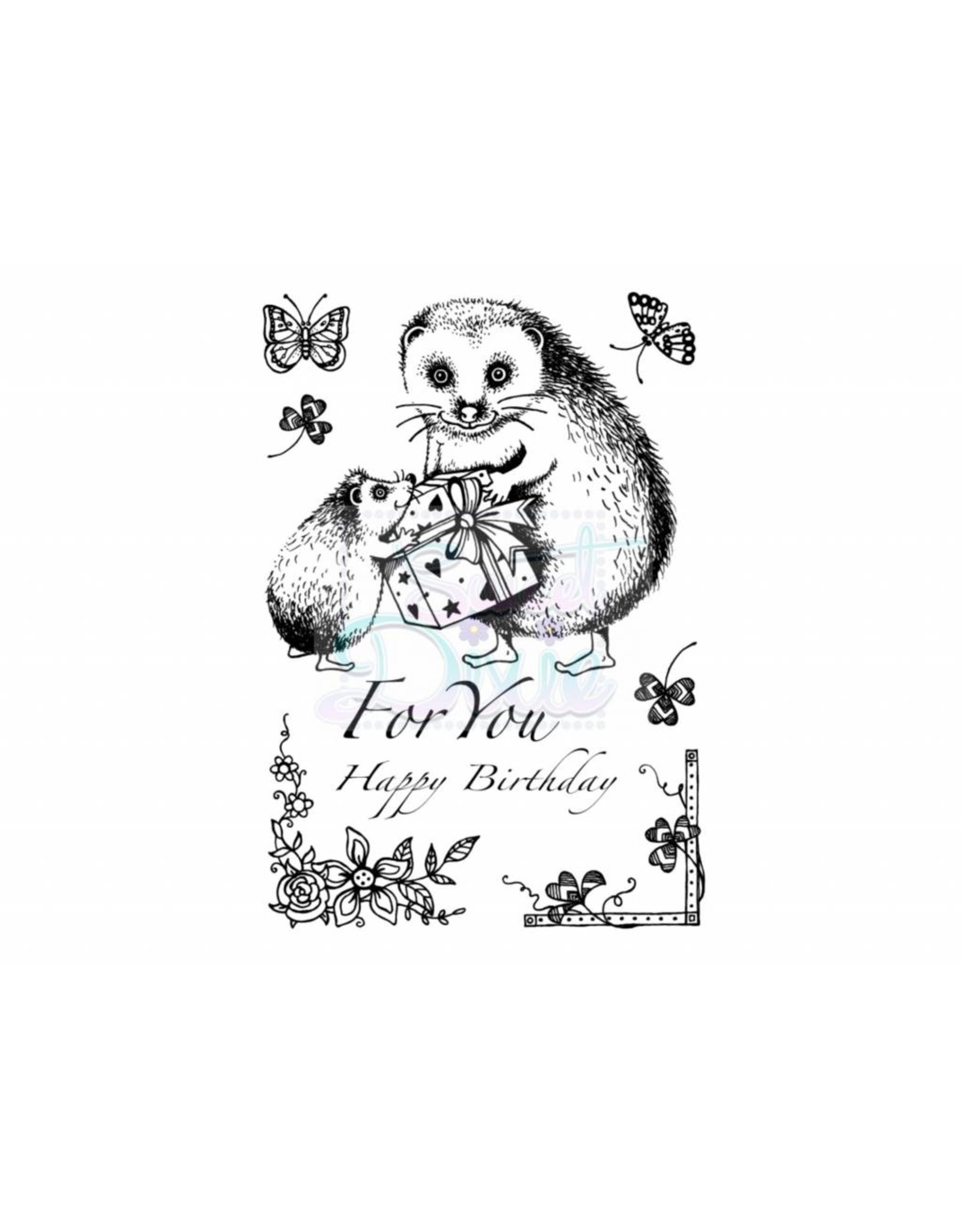 Sweet Dixie Clear Stamps Sets  Hedgedog for you A6