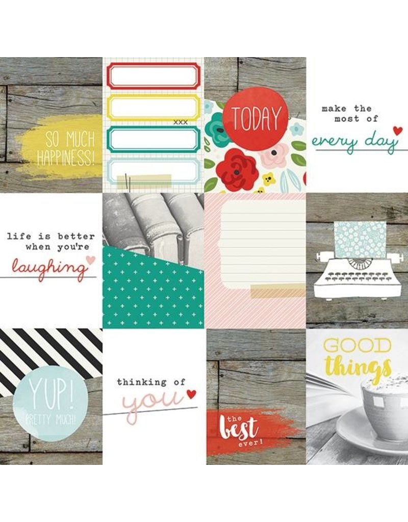 Simple Stories  Life in Colour Journaling Card Elements 3x4