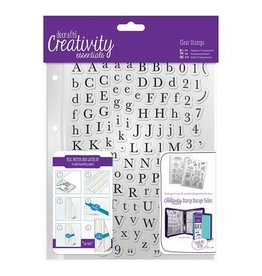 Papermania Clear Stamps Sets   Alphas Trad    A5