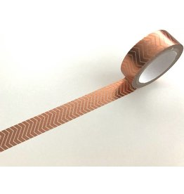 Washitape  Copper Foil Zickzack 15 mm x 5 m
