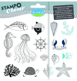 Aladine Clear Stamp Set  Poisson von Aladine