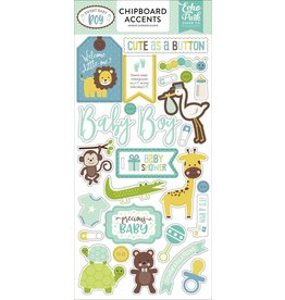 Echo Park Sweet Baby Boy 6x12 Chipboard Accents