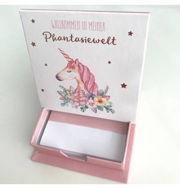 Notizzettel Box Phantasiewelt