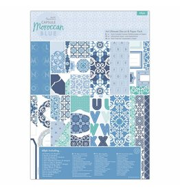 Papermania A4 Ultimate Die-cut & Paper Pack - Moroccan Blue