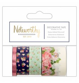 Papermania Washi Tape Set Noteworthy Flowers