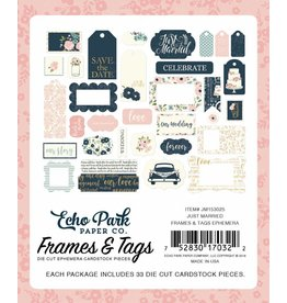 Echo Park Echo Park Just Married Frames & Tags Ephemera
