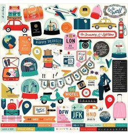 Carta Bella Pack Your Bags 12x12 Inch Element Sticker