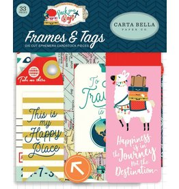 Pack Your Bags Tags & Frames von Carta Bella